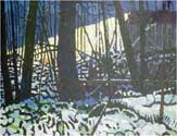 Sitting On A Camp. Alcona County, 2006. 24 x 30 in, acrylic on canvas.