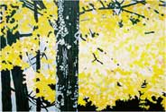 Maple Gold. Tawas County. 2006, 24 x 18 in, acrylic on canvas.